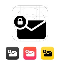 Secure mail icon vector