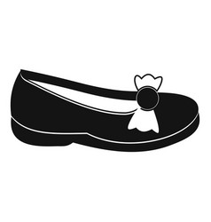 Shoe icon simple style vector
