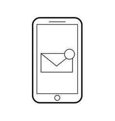 Smartphone receiving email correspondence digital vector