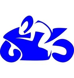 Sportbike racer vector image