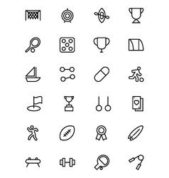 Sports outline icons 4 vector