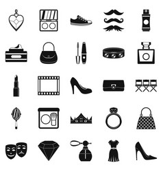 Stylist icons set simple style vector