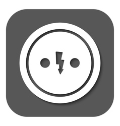 The Electrical Outlet icon Socket symbol Flat vector image