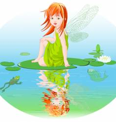 Water fairy vector