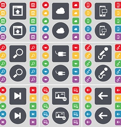 Window Cloud SMS Magnifying glass Socket vector image