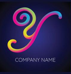 y letter logo icon blending color vector image vector image