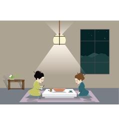 Zen room vector image vector image