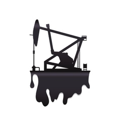 Oil pump petroleum oil industry icon vector