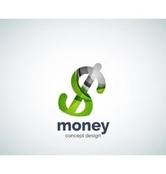 dollar logo template vector image