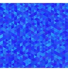 Bright blue triangles seamless pattern vector