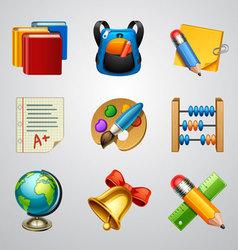 School icons-set 4 vector