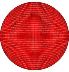 Red ball in mosaic vector