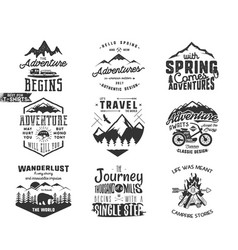 spring adventure and mountain explorer typography vector image
