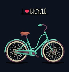 Simple bicycle design vector
