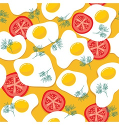 Fried eggs seamless pattern vector