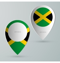 Paper of map marker for maps jamaica vector
