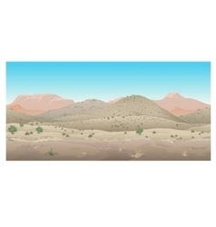 Scene creative landscape of wild west prairie vector