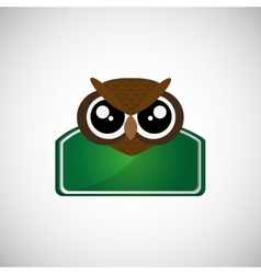 Animal design owl icon isolated vector
