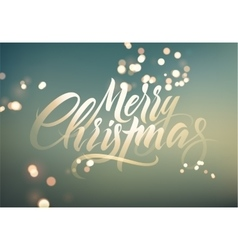 Calligraphic retro christmas greeting card vector