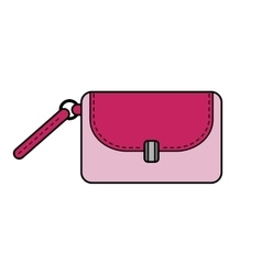 Hand bag isolated color flat icon and object vector