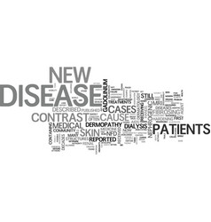 a new disease of the skin text word cloud concept vector image vector image
