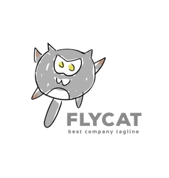 Abstract cat monster logo icon concept Logotype vector image vector image