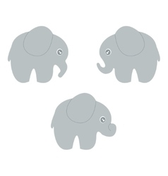 baby elephant set vector image vector image