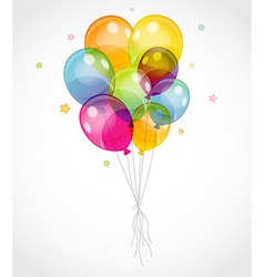 Background with colorful balloons vector image vector image
