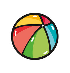 beach ball to play in the vacation vector image