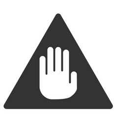 Caution flat icon vector