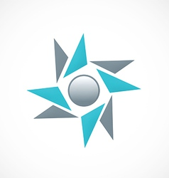 circle star shape abstract logo vector image vector image