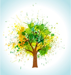 Color paint splashes eco background vector image