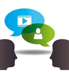 communication concept design vector image
