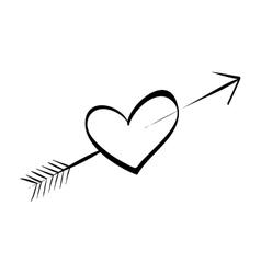 Cute decorative heart vector