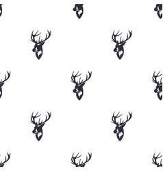 Deer head pattern wild animal symbols seamless vector