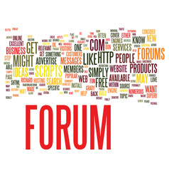 Forums why you might want one and how to get one vector