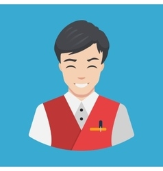 Hotel staff - waiter icon flat design vector