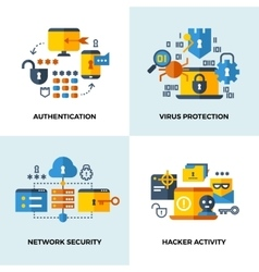 Internet security cloud technology services data vector