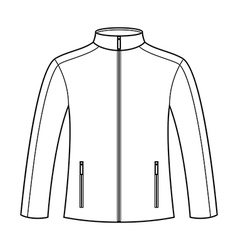 Jacket template vector image vector image