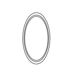 oval mirror icon vector image