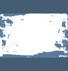 Pale blue paint on white background vector