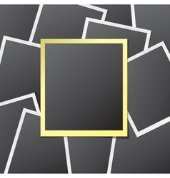 Paper photo frames vector