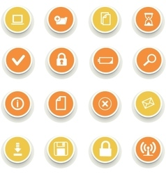 round of computer icons vector image