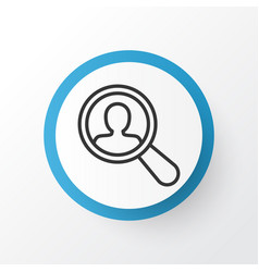 Search worker icon symbol premium quality vector
