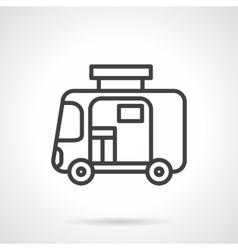 Travel trailer simple line icon vector