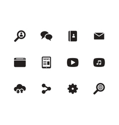 Web icons on white background vector image vector image