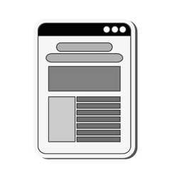 website template icon vector image vector image