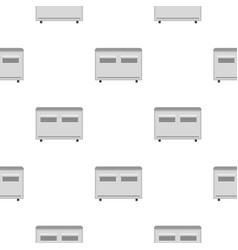 White heating con pattern seamless vector