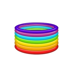 Rings in colours of lgbt icon cartoon style vector