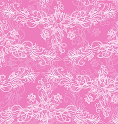 Freehand drawing of lilies seamless pattern vector